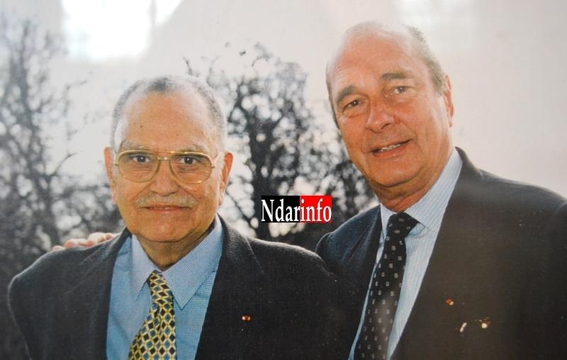 Photo| André Guillabert, ancien maire de Saint-Louis, en compagnie de Jacques Chirac