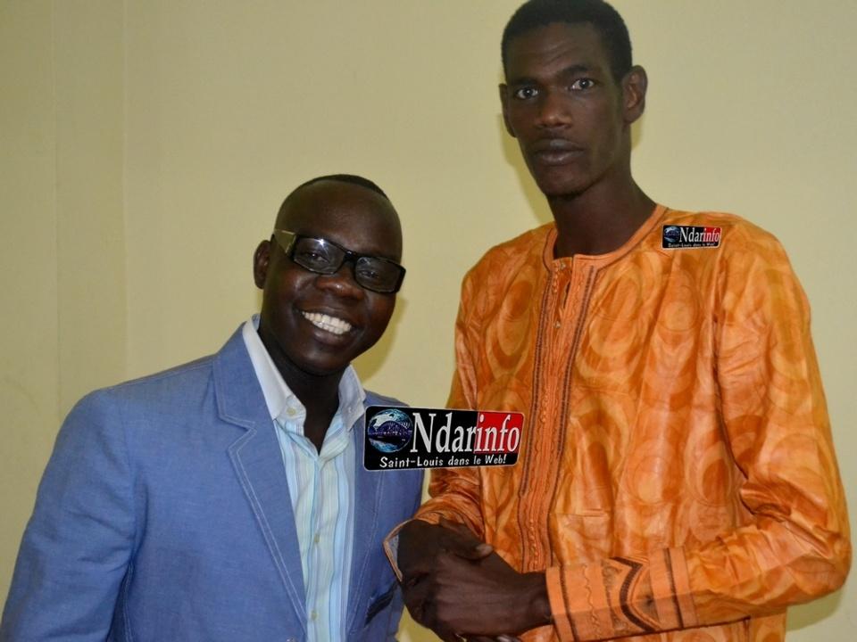 Abdou Guité Seck et Djiby Sèye à la soirée de Gala de l'ANPS.