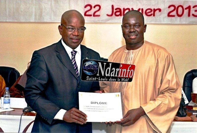 Mbaye Boye en compagnie de Moumar Guèye.