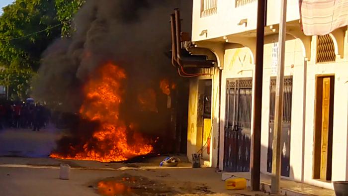 INCENDIE: la cuve de gasoil d'une boulangerie explose à Médina Courses.
