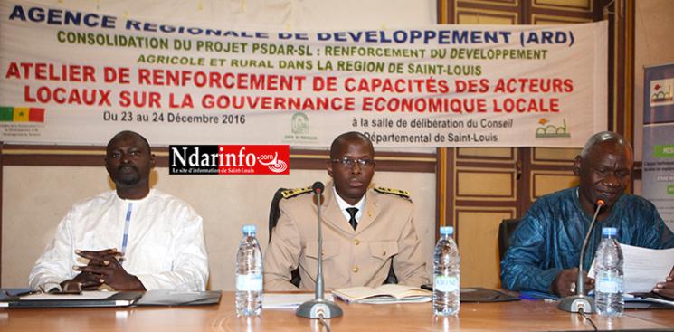 Promotion de la gouvernance économique locale: l'Etat salue la démarche innovante de l'ARD de Saint-Louis.