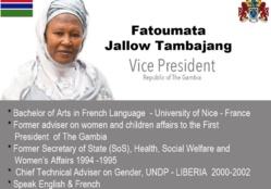 Adama Barrow nomme sa vice-présidente