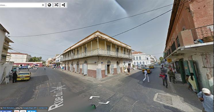 Se perdre dans les ruelles historiques de Saint-Louis avec GOOGLE STREET VIEW