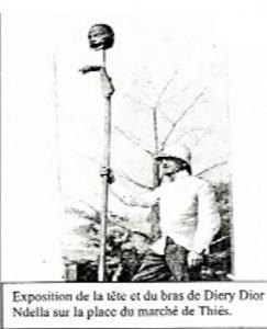 Photo exposition des restes de Diery au marché de Thiès