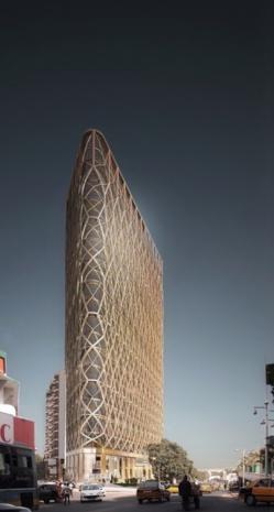 La tour la plus haute du Sénégal en construction