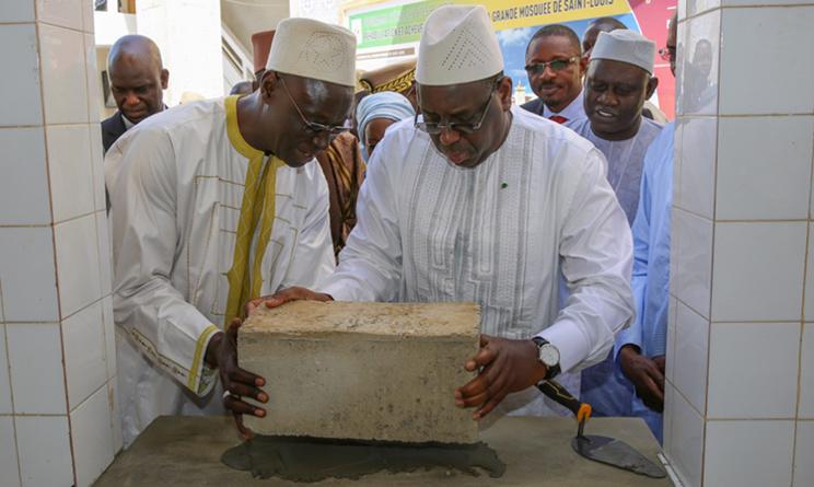 Au lancement des travaux de réhabilitation de la Grande mosquée de Saint-Louis