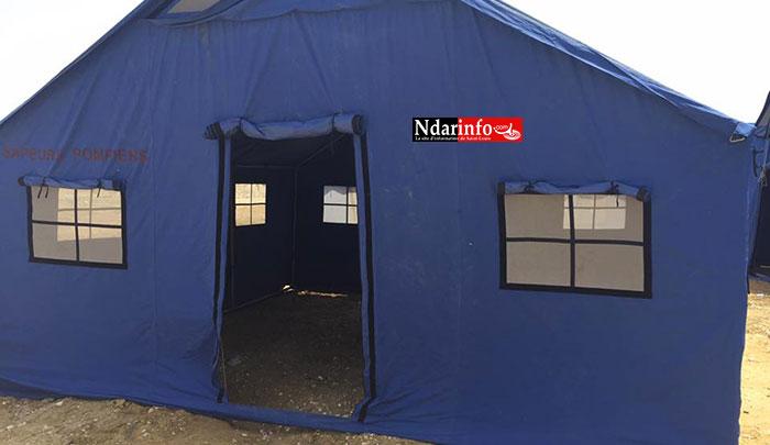 Les sinistrés de SANTHIABA logés dans des tentes à Khar YALLA