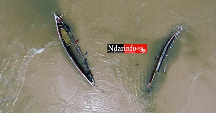 Accident de pirogues sur la brèche de Saint-Louis. Plus de 300 personnes ont perdu la vie dans ce canal.