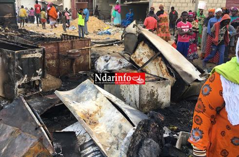 Incendie au Marché Sor : le complexe frigorifique réduit en cendre (photos)
