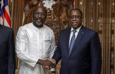 Georges Weah à Dakar, ce mercredi