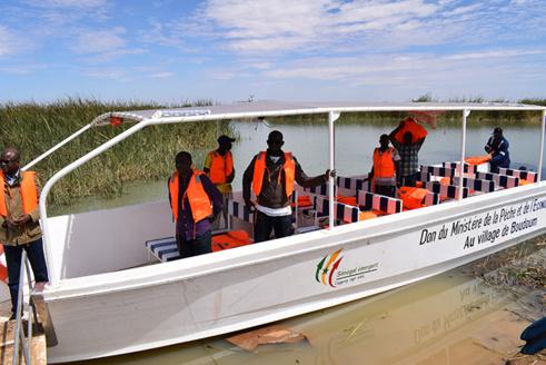 DAGANA : Une embarcation pour les villages de kassack et Boundoum