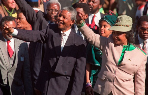 Rassemblement à Durban, à la fin d'un congrès de l'ANC
