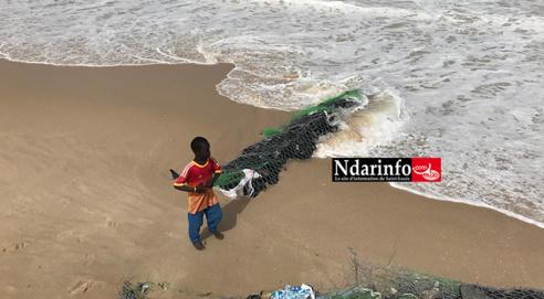 GOXU  MBACC : Reprise des travaux de la digue. L'ouvrage gravement endommagé (Photos)