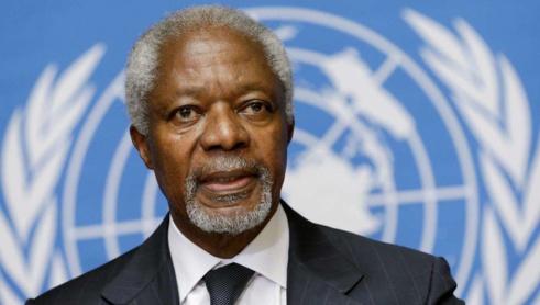 Mort de Kofi Annan, ancien secrétaire général de l'ONU et prix Nobel de la paix