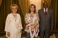 Audience privée de Mme Wade au palais présidentiel, en présence du Président de la République du Sénégal, en l'honneur de SAR la Grande-Duchesse (c) SIP/Charles Caratini