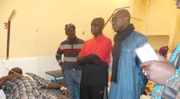 Maison effondrée à NDAR TOUTE  : Mansour FAYE a rendu visite aux blessés