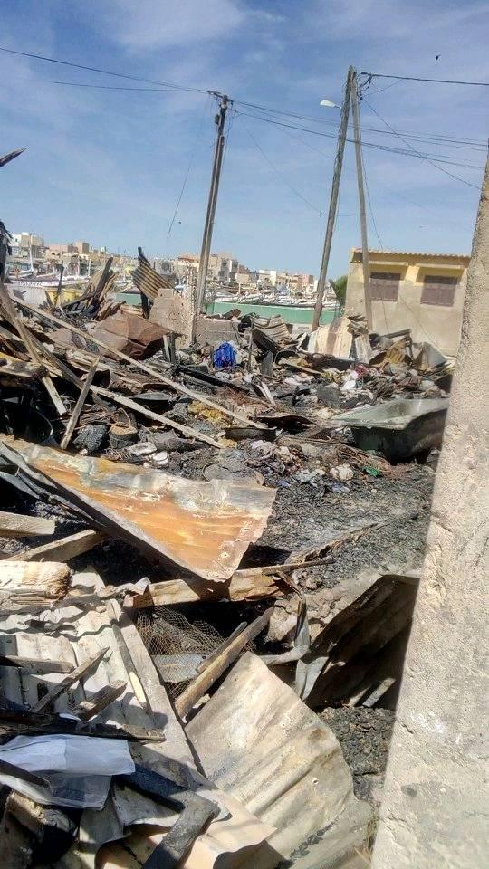 Incendie au quartier Sud : d'importants dégâts enregistrés ( photos)