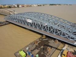 Le pont Faidherbe sera inauguré en octobre, les travaux seront bouclés en mis-Août