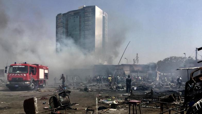 Incendie au marché Petersen : les pertes estimées à 890 millions FCFA
