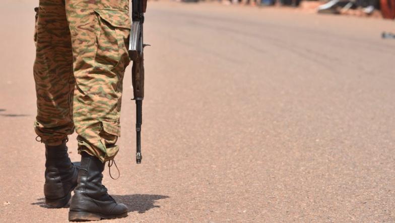 Un soldat burkinabé à Ouahigouya, le 29 octobre 2018 (image d'illustration). Issouf Sanogo, AFP