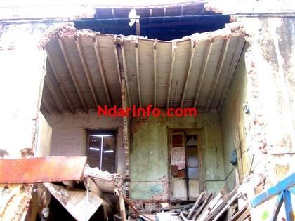 [ PHOTOS ] Drame: un immeuble s'affaisse au quartier Sud, en face de l'Hôpital régional de Saint-Louis