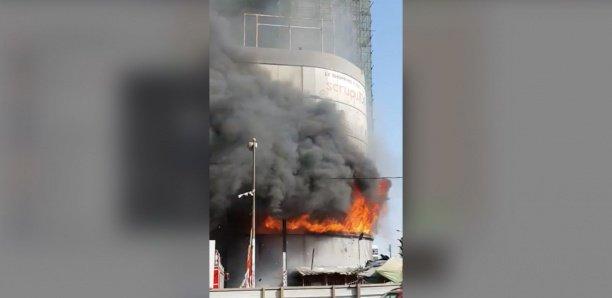 Un incendie sur l'avenue Blaise Diagne