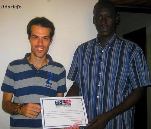 Félicitation à Diégo Bugini,  le premier stagiaire de NdarInfo !