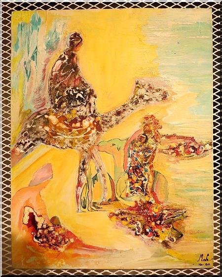 [Video & Rep. Photos] L'artiste peintre Mamadou Anne ouvre son éventail de génie à la musique