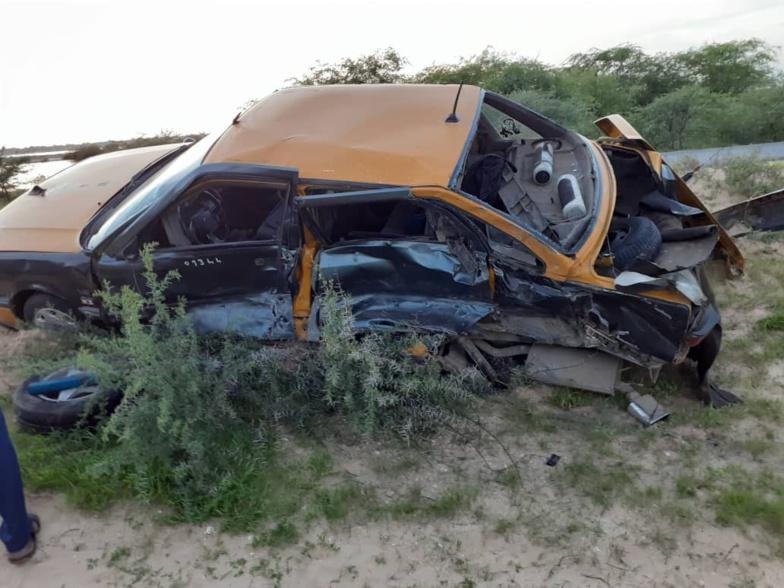 Collision entre un taxi et un véhicule 4X4 sur la route de GANDIOL (photos)