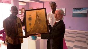 |PHOTOS| Le sacre d'Abdou Karim Fall: découvrez le talent de ce jeune peintre saint-louisien