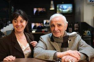 Charles Aznavour avec Cécile Lonis