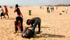 Saint-Louis : De jeunes volontaires ont nettoyé la plage de l'hydrobase, ce dimanche
