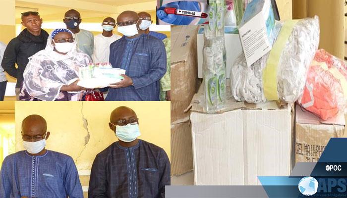 Saint-Louis : le Conseil départemental de Podor remet un lot de matériel sanitaire aux écoles