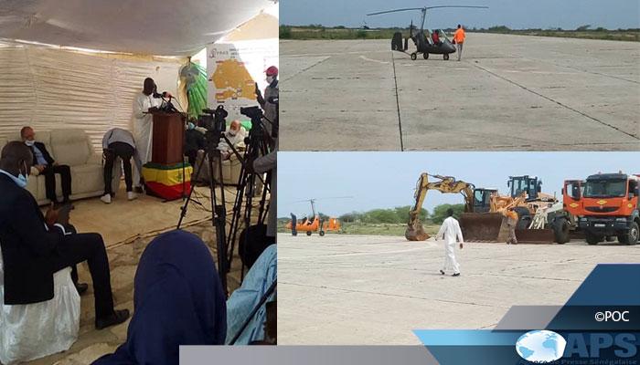 Le site de l'aéroport de Saint-Louis remis à la société tchèque en charge des travaux de reconstruction