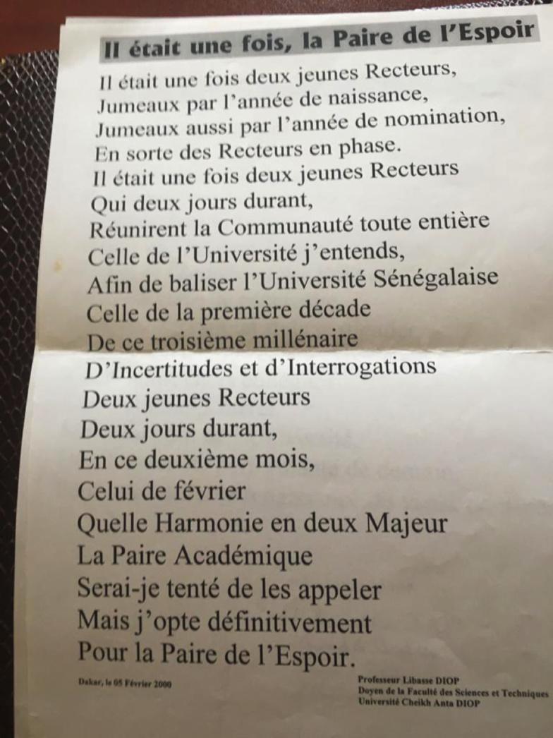 HOMMAGE AU Pr MOUSTAPHA SOURANG : Le savant et le politique : Abou Niane, tu permets ! Par Malamine DIOUF