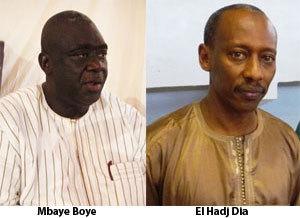 Mbaye Boye-El Hadj Dia, complices hier, opposés aujourd'hui