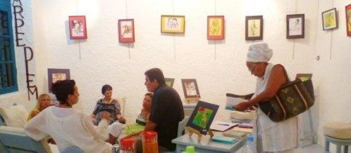 Saint-Louis : L'exposition « GARE A VOUS » de Patricia N'Diaye  sur les cimaises de l'Ataya Gallery.