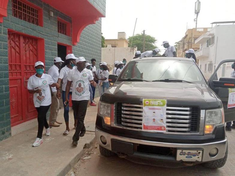 RIPOSTE CONTRE LA COVID-19 : les jeunes du Docteur Ahmadou DIA sur le terrain (photos)