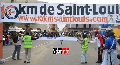 10 km de Saint-Louis:  Vainqueur de la course, Samba Faye empoche 1 million 500 mille francs.