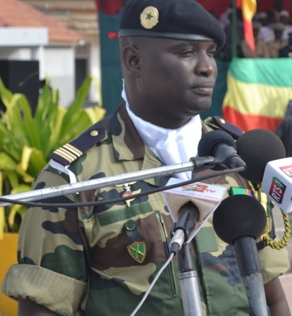 le lieutenant Colonel Arfang Sarr,  commandant du 12 eme Bataillon d'instruction.