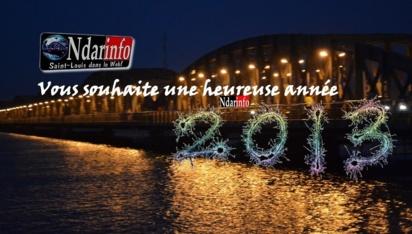 Il est 00h00mn à Saint-Louis: Bonne et heureuse année 2013 !!!