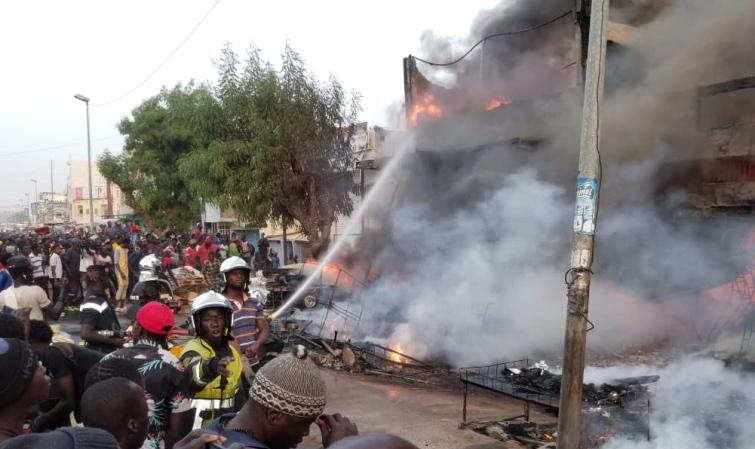 Touba : 4 centres commerciaux du marché Occas réduits en cendres