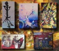 Compilation d'œuvres des artistes participant aux itinéraires artistiques de Saint-Louis