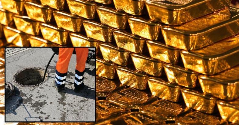 En nettoyant des égouts, des agents de propreté tombent sur des lingots d'or