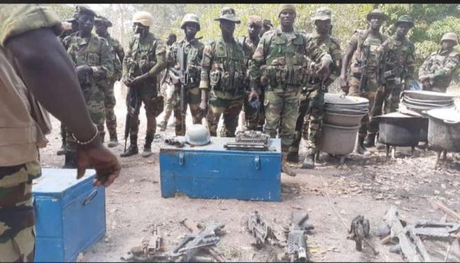 Casamance - L'Armée démantèle quatre bases rebelles et exhibe ses...