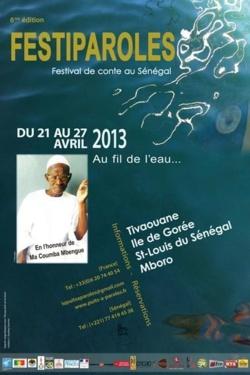 Un festival itinérant de contes à Gorée, Tivaouane, Mboro et Saint-Louis du 21 au 27 avril 2013.