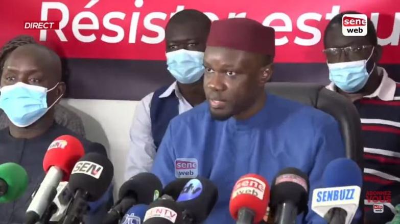 """Ousmane Sonko invoque son droit à la résistance et dézingue le """"triangle des Bermudes judiciaire"""""""