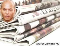 Revue de presse: Karim Wade fait le menu des quotidiens.