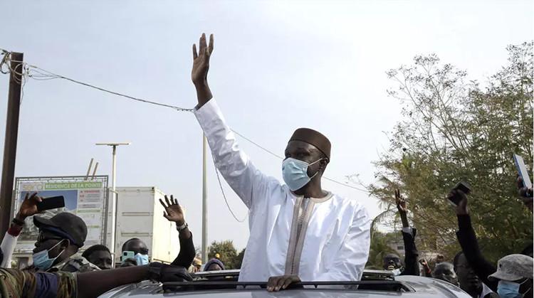 Ousmane SONKO est arrivé au Tribunal de Dakar