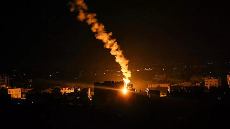 Tirs de l'armée israélienne dans la bande de Gaza, le 16 mai 2021 © Said Khatib, AFP